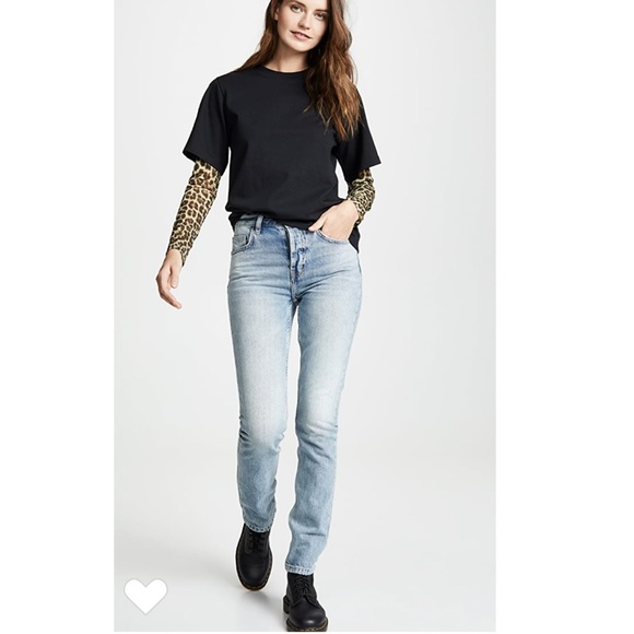 Current/Elliott Denim - Current Elliott Stovepipe Hartley Straight Jeans